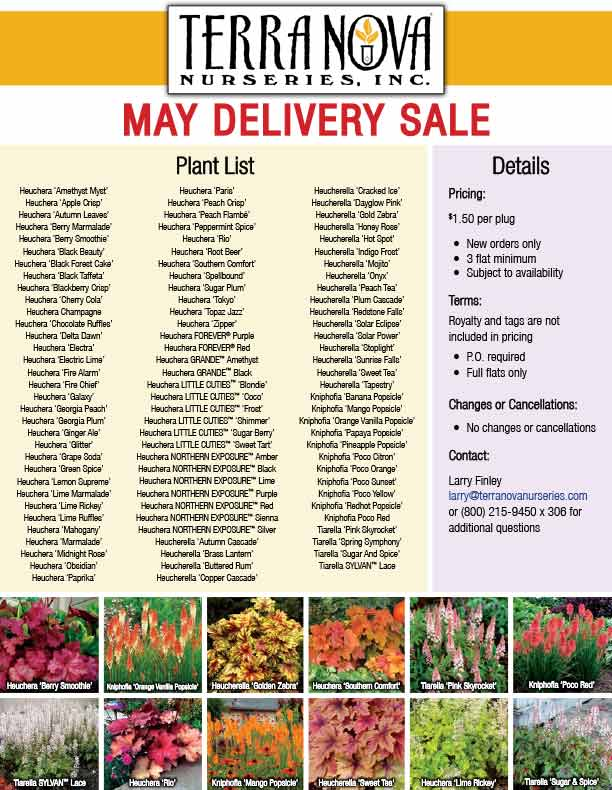 May Delivery Sale